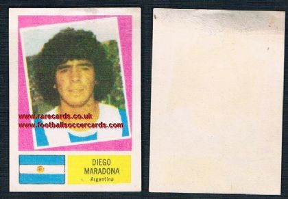 1978 Crack FKS Argentine issue Diego Maradona Argentina sticker AMR top rear